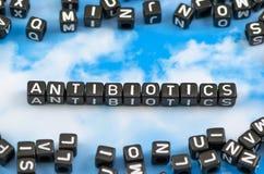 Słowo antybiotyki zdjęcie royalty free