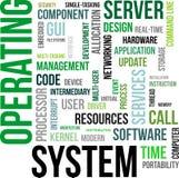Słowo chmura - system operacyjny Obraz Stock
