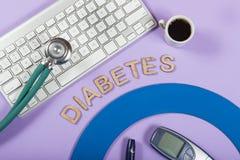 słowo & x22; diabetes& x22; obrazy stock