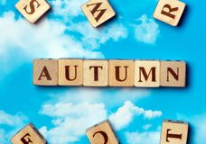 Słowo jesień Zdjęcie Stock