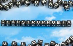 Słowo klaustrofobia fotografia royalty free