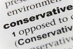 Słowo konserwatysty zakończenie Up zdjęcie royalty free