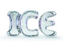 Słowo lód robić od lodów listów na białym tle 3d ilustracja wektor