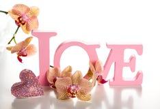 Słowo miłość fotografia royalty free