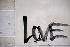 Słowo miłość Obraz Royalty Free
