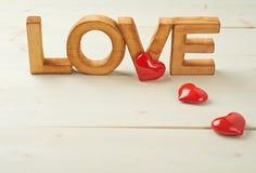 Słowo miłości skład Fotografia Royalty Free