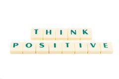 Słowo myśli pozytyw obraz stock