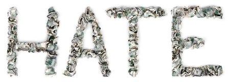 Nienawiść - Crimped 100$ rachunki Obrazy Royalty Free
