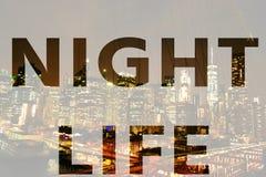 Słowo nocy życie fotografia stock