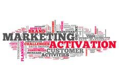 Słowo Obłoczna Marketingowa aktywacja royalty ilustracja