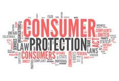 Słowo Obłoczna ochrona konsumentów ilustracja wektor