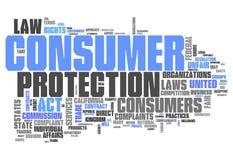 Słowo Obłoczna ochrona konsumentów ilustracji