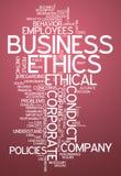 Słowo Obłoczne Biznesowe etyki Fotografia Royalty Free