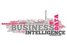 Słowo Obłoczny business intelligence Zdjęcia Royalty Free