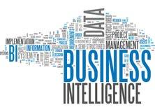 Słowo Obłoczny business intelligence royalty ilustracja