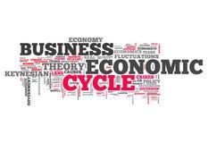 Słowo Obłoczny Ekonomiczny cykl ilustracja wektor