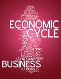 Słowo Obłoczny Ekonomiczny cykl royalty ilustracja