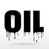 Słowo olej robić obcieknięcie olej Obraz Stock