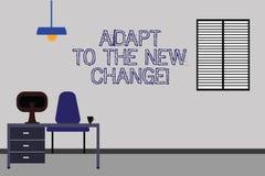 Słowo pisze tekscie Adaptuje Nowa zmiana Biznesowy pojęcie dla Dostawać używał zmian różne strategie sytuacje Work Space royalty ilustracja