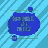 Słowo pisze tekscie Komunikuje dane polisy Biznesowy pojęcie dla ochrony przekaz poufni dane ilustracji