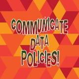Słowo pisze tekscie Komunikuje dane polisy Biznesowy pojęcie dla ochrony przekaz poufni dane ilustracja wektor