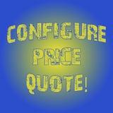 Słowo pisze tekscie Konfiguruje ceny wycenę Biznesowy pojęcie dla oprogramowania używa firmami dla kosztować towary światło ilustracji