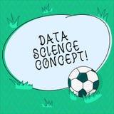 Słowo pisze tekstów dane nauki pojęciu Biznesowy pojęcie dla ekstrakcji wartościowa wiedza od surowych dane piłki nożnej piłki ilustracji
