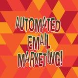 Słowo pisze tekst Automatyzującym emaila marketingu Biznesowy pojęcie dla emaila wysyłał automatycznie lista Plamiąca pokazywać royalty ilustracja