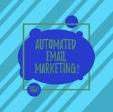 Słowo pisze tekst Automatyzującym emaila marketingu Biznesowy pojęcie dla emaila wysyłał automatycznie lista pokazywać ilustracji