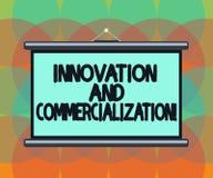 Słowo pisze tekst komercjalizacji I innowacji Biznesowy pojęcie dla Przedstawiać nowego produkt w handlu pustego miejsca przenośn ilustracji