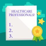 Słowo pisze tekst opieki zdrowotnej profesjonalistów Biznesowy pojęcie dla działa gałąź dba zawierać medycyny operacji biel ilustracji