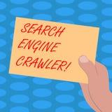 Słowo pisze tekst wyszukiwarki śpioszku Biznesowy pojęcie dla programa lub automatyzującego pisma który wyszukuje sieć Rysującego ilustracja wektor