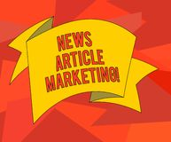 Słowo pisze teksta artykułu prasowego marketingu Biznesowy pojęcie dla Pisać i zagadnienia pasmo ujścia krótcy artykuły royalty ilustracja