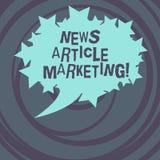 Słowo pisze teksta artykułu prasowego marketingu Biznesowy pojęcie dla Pisać i zagadnienia pasmo ujścia krótcy artykuły ilustracja wektor