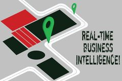 Słowo pisze teksta czasu rzeczywistego business intelligence Biznesowy pojęcie dla informacji o działalności gospodarczej mapie d royalty ilustracja