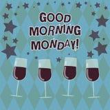Słowo pisze teksta dniu dobrym Poniedziałek Biznesowy pojęcie dla witać someone w początku dnia tygodnia początku weekend Wypełni ilustracja wektor
