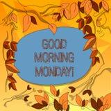 Słowo pisze teksta dniu dobrym Poniedziałek Biznesowy pojęcie dla witać someone w początku dnia tygodnia początku weekendu drzewo ilustracja wektor
