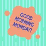 Słowo pisze teksta dniu dobrym Poniedziałek Biznesowy pojęcie dla witać someone w początku dnia tygodnia początku weekendu puste  ilustracji