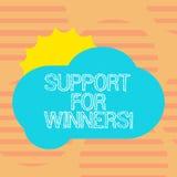 Słowo pisze teksta poparciu Dla zwycięzców Biznesowy pojęcie dla daje pomocy pokazywać demonstrujący czego wygrywał rywalizację ilustracji