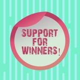 Słowo pisze teksta poparciu Dla zwycięzców Biznesowy pojęcie dla daje pomocy pokazywać demonstrujący czego wygrywał rywalizację royalty ilustracja