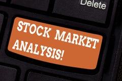 Słowo pisze teksta rynek papierów wartościowych analizie Biznesowy pojęcie dla Umożliwialiśmy inwestorów znać warty inwestować pr zdjęcie royalty free