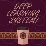 Słowo pisze teksta uczenie systemu Głęboko Biznesowy pojęcie dla kolekcji algorytmy używać w maszynowego uczenie 3D kawie ilustracja wektor