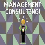 Słowo pisze teksta zarządzania Konsultować Biznesowy pojęcie dla rad na analysisaging ich biznesy i ulepszać ilustracja wektor