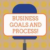 Słowo pisze tekstowi Biznesowych celach I procesie Biznesowy pojęcie dla Pracujących strategii osiąga cele Pustych ilustracja wektor