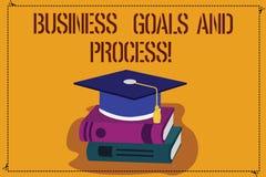 Słowo pisze tekstowi Biznesowych celach I procesie Biznesowy pojęcie dla Pracujących strategii osiąga celu kolor ilustracji