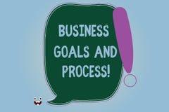 Słowo pisze tekstowi Biznesowych celach I procesie Biznesowy pojęcie dla Pracujących strategii osiąga celu Pustego kolor ilustracja wektor