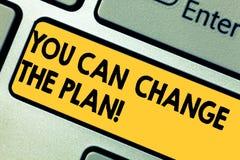 Słowo pisze tekstowi Ciebie Może Zmieniać plan Biznesowy pojęcie dla Robić zmienia w twój planach osiągać cele Klawiaturowych royalty ilustracja