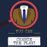Słowo pisze tekstowi Ciebie Może Zmieniać plan Biznesowy pojęcie dla Robić zmienia w twój planach osiągać cele Powiększa - szkło ilustracja wektor