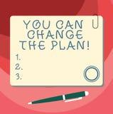 Słowo pisze tekstowi Ciebie Może Zmieniać plan Biznesowy pojęcie dla Robić zmienia w twój planach osiągać cele Pustych royalty ilustracja
