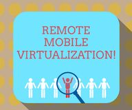 Słowo pisze tekstowi Dalekiej Mobilnej wizualizacji Biznesowy pojęcie dla puszki daleko kontroli Android maszyna wirtualna ilustracji